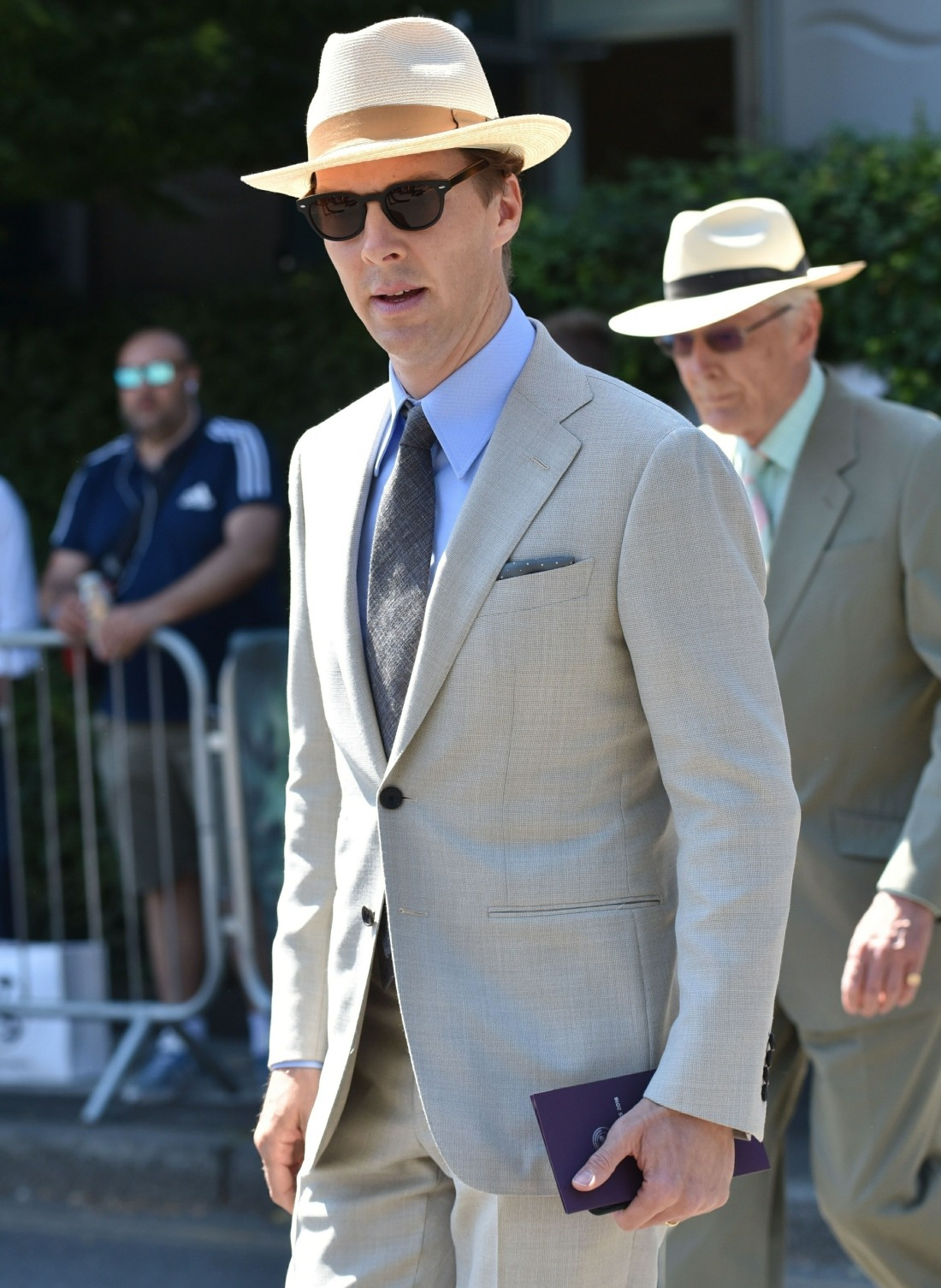Benedict Cumberbatch attends the Wimbledon Tournament in London