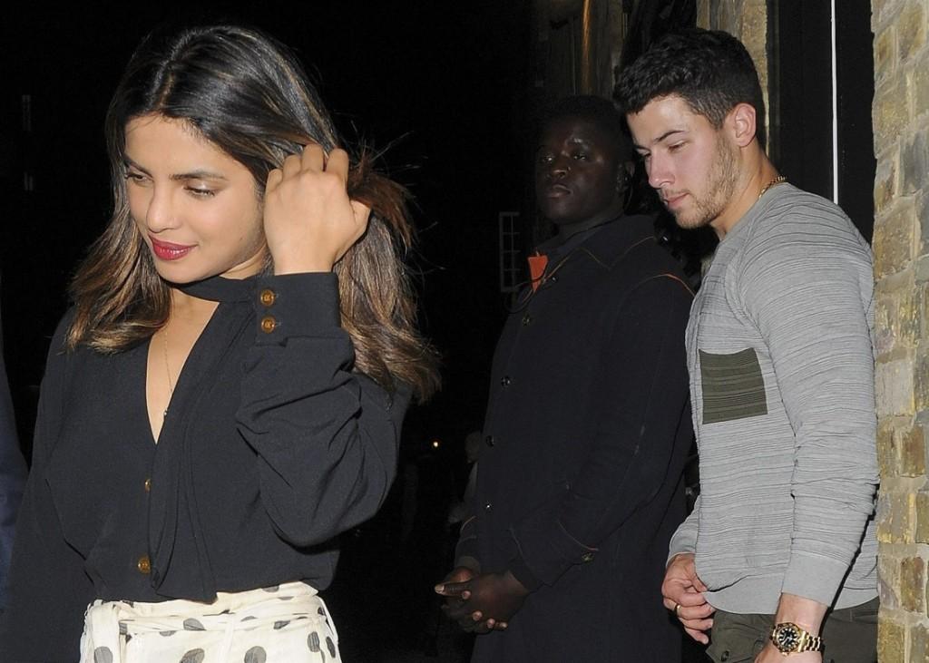 Priyanka Chopra and Nick Jonas leave the Chiltern Firehouse together