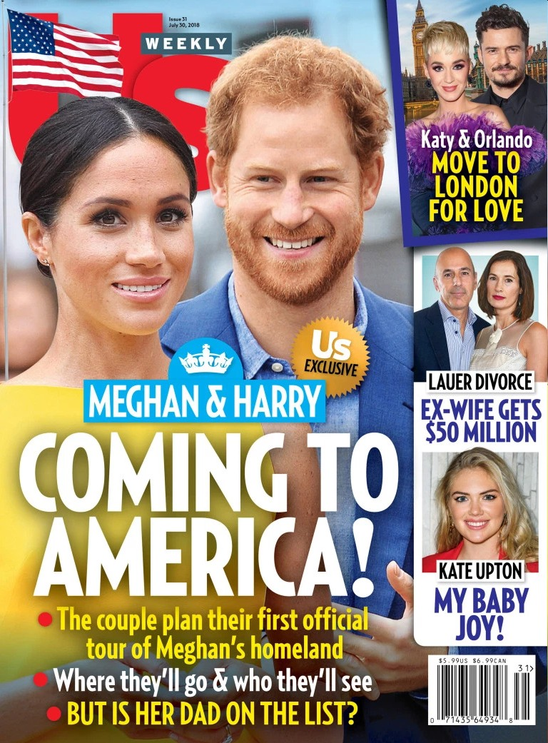Us Weekly: The Duke & Duchess of Sussex are planning a trip to America