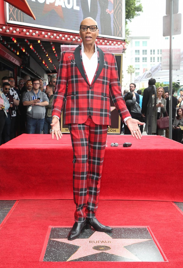 RuPaul receives a star on the Hollywood Walk of Fame