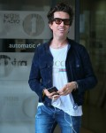 Nick Grimshaw seen leaving BBC Radio One Studios after stepping down from his BBC Breakfast show - London