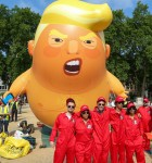 Trumpbaby protest on Parliament Square.