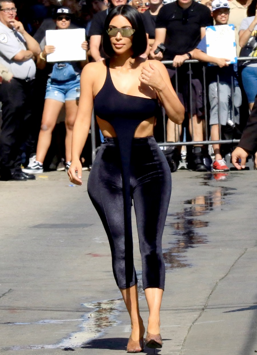 Celebrities at the 'Jimmy Kimmel Live!' studios