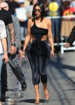 Kim Kardashian Out In All Velvet Fashion In Hollywood.