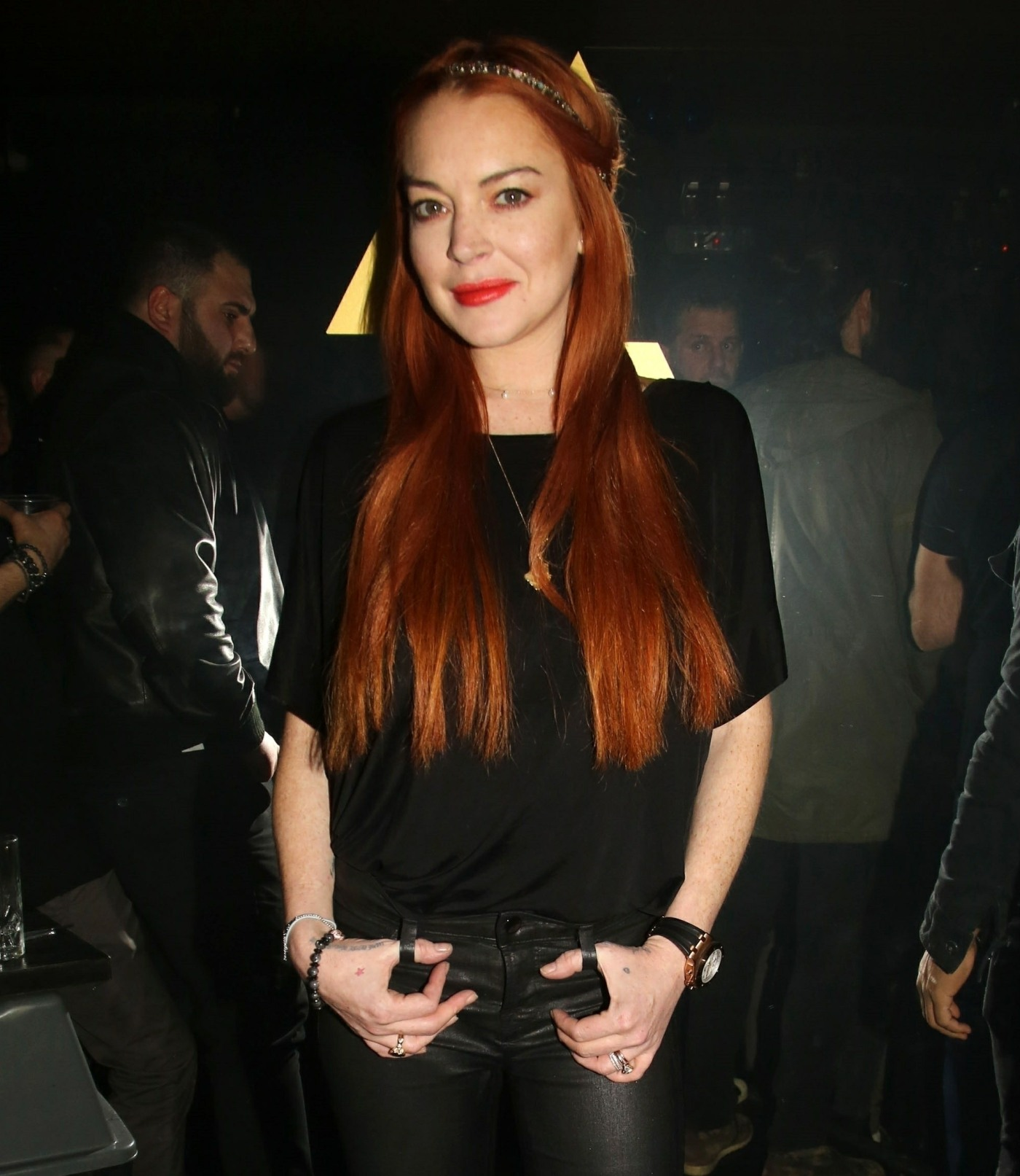"""Lindsay Lohan poses for photos at her club """"LOHAN"""" in Athens"""