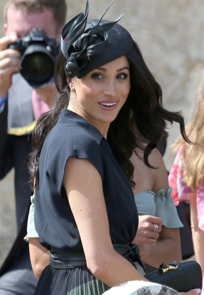 Prince Harry and Meghan Markle attend the edding of Charlie Van Straubenzee and Daisy Jenkins