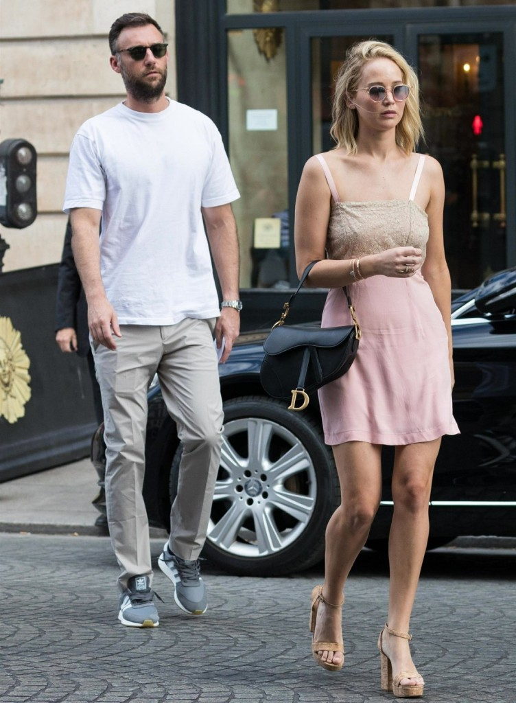 Lovebirds Jennifer Lawrence and Cooke Maroney enjoy a romantic stroll through Paris