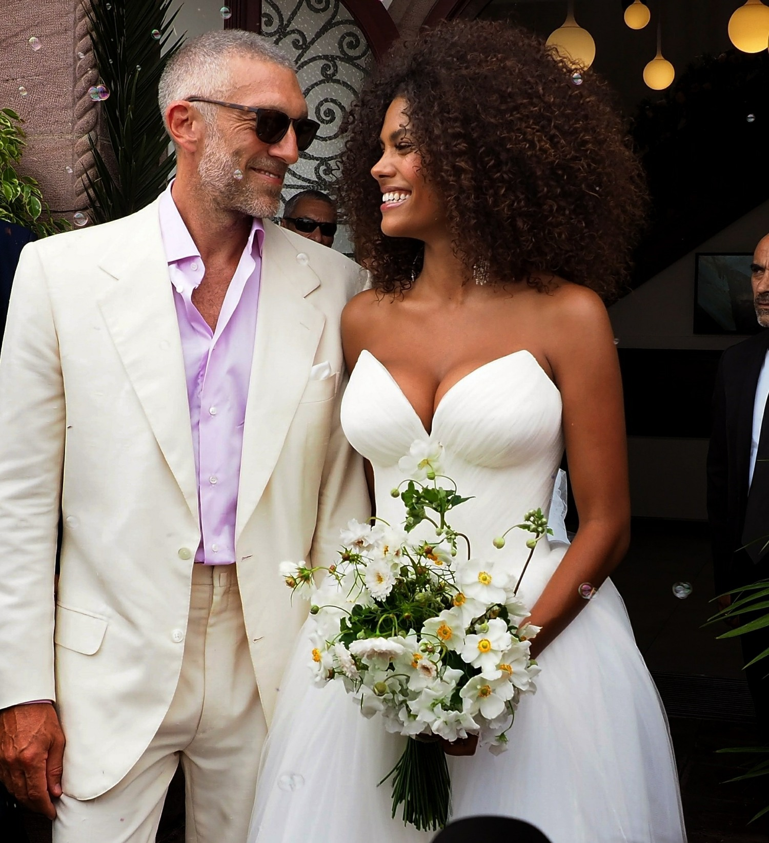 Vincent Cassel and Tina Kunakey tie the knot in the Basque Country