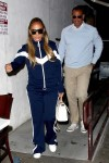 Jennifer Lopez and Alex Rodriguez slip out the back after a bite at Craig's