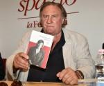 Gérard Depardieu attends a presentation for his book 'Innocente'