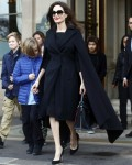 Angelina Jolie visits The Louvre in Paris with her kids