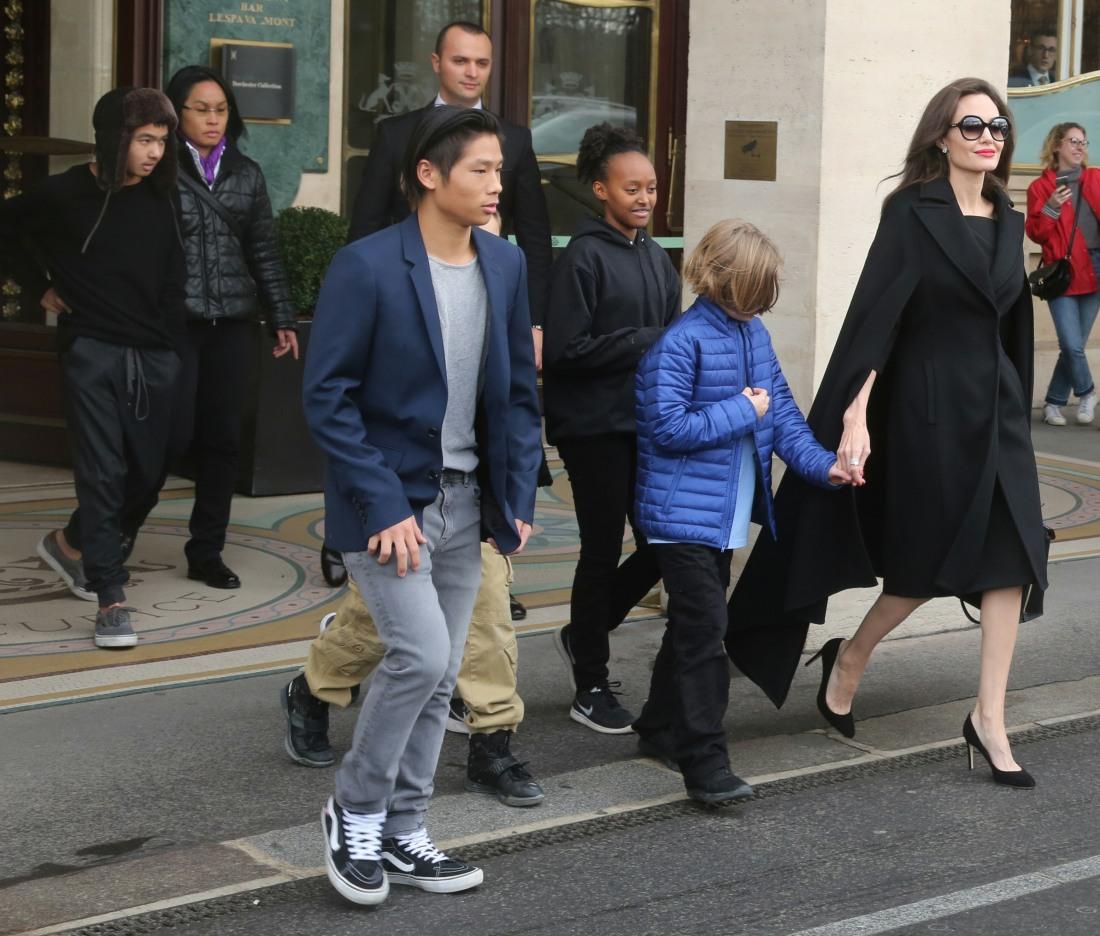 Angelina Jolie in Paris