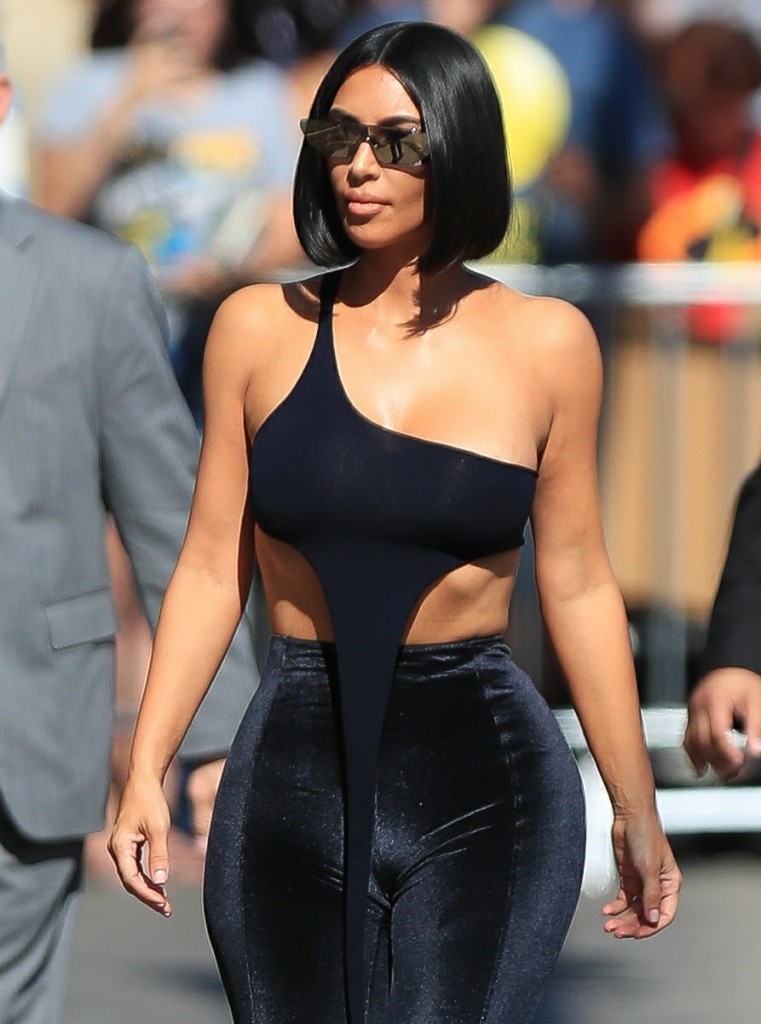 Kim Kardashian Out In All Velvet Fashion In Hollywood.