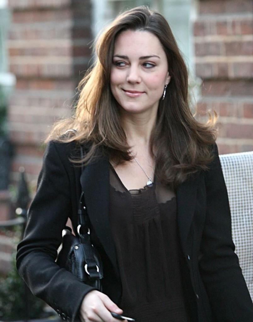 Kate Middleton leaving her house