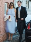 Princess Eugenie and Jack Brooksbank leaving the wedding of Daisy Jenks and Charlie Van Straubenzee in Surrey