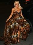 Nicki Minaj jokes around at the Harpers Bazaar event prior to her confrontation with Cardi B