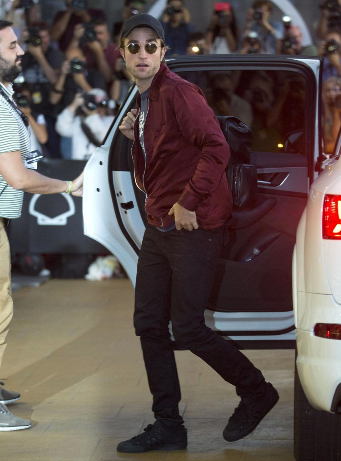 Robert Pattinson arrives during the San Sebastian Film Festival