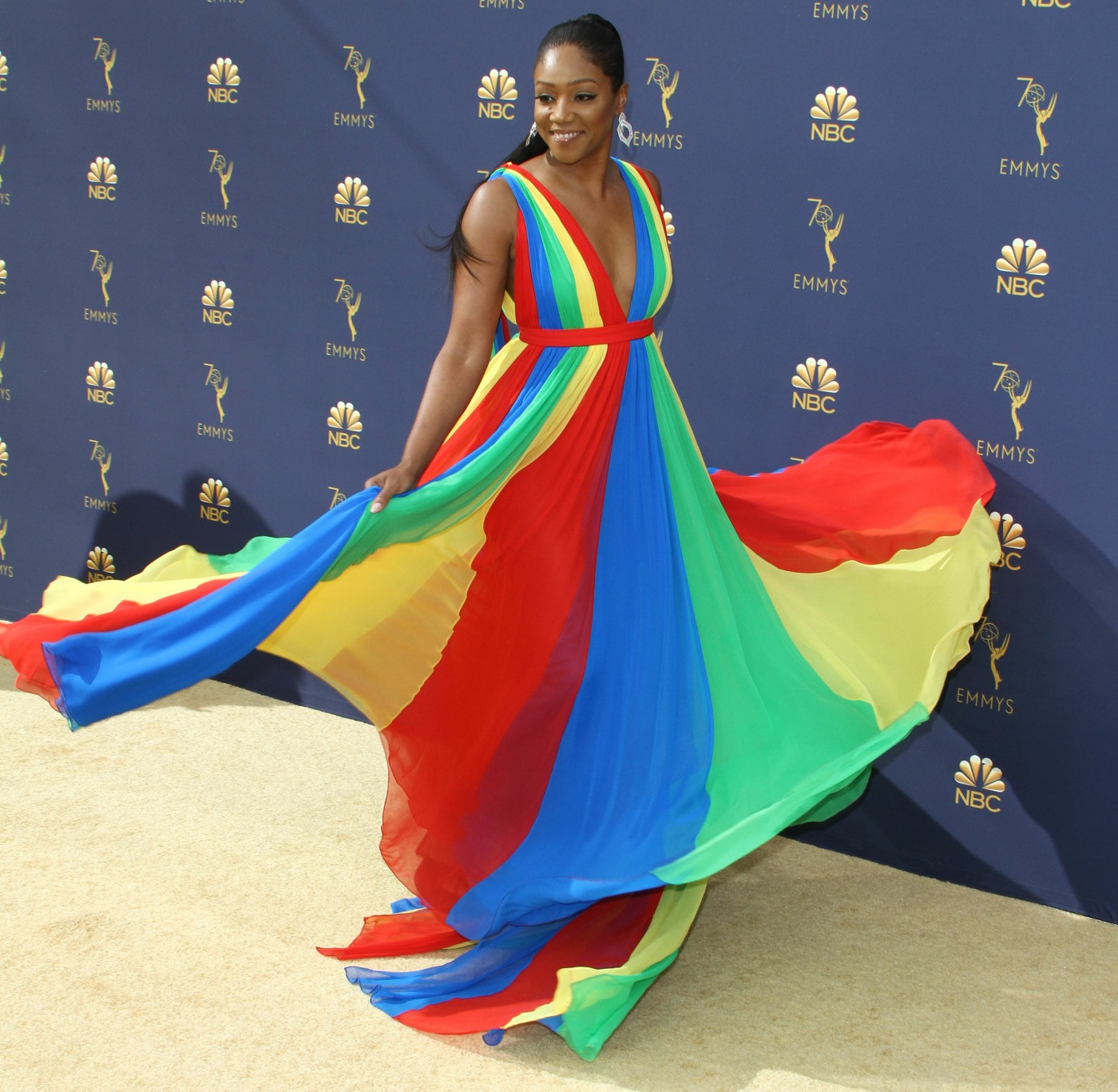 Tiffany Haddish attends The 70th Emmy Awards-Arrivals in Los Angeles