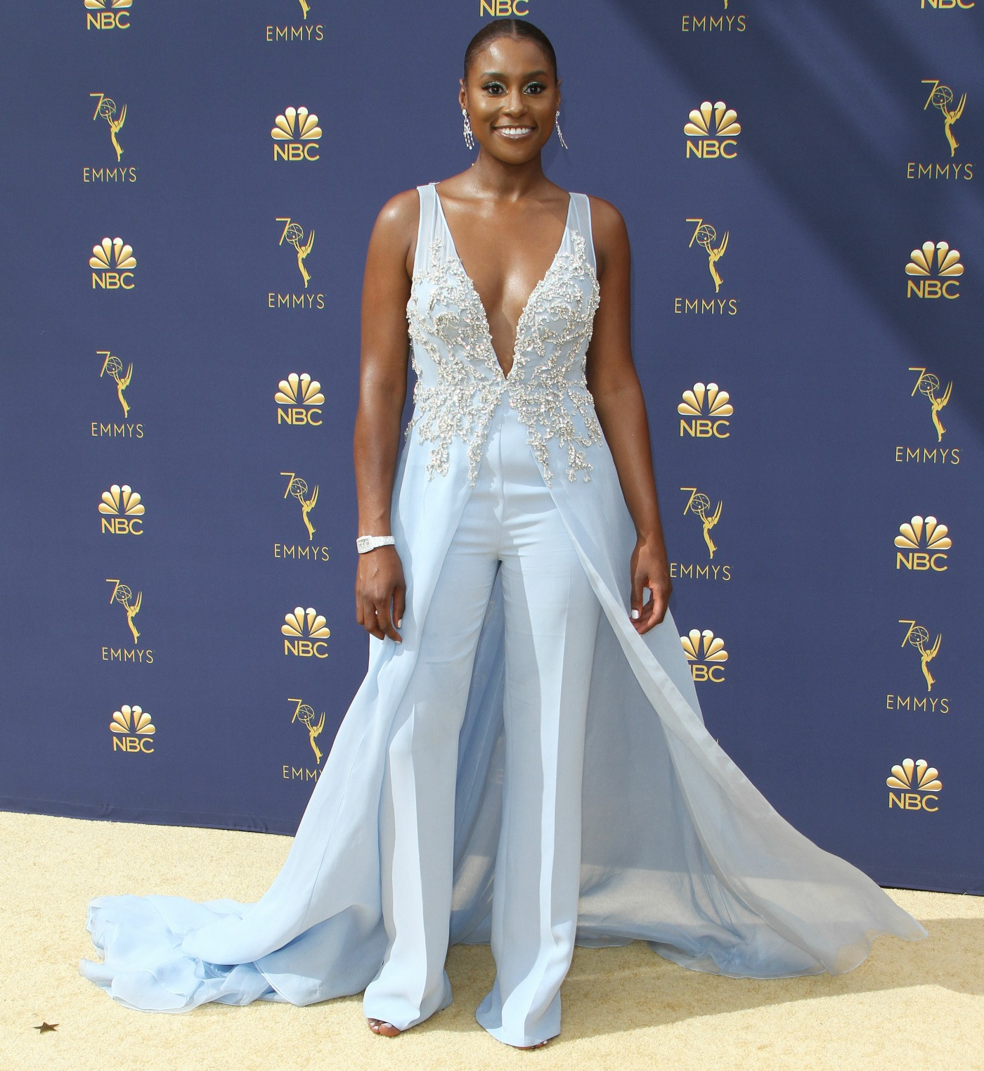 Issa Rae attends The 70th Emmy Awards-Arrivals in Los Angeles