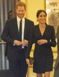 The Duke and Duchess of Sussex pictured arriving for a gala performance of the musical HAMILTON in support of Sentebale at the Victoria Palace Theatre, London. The evening will raise awareness and funds for Sentebale's work with children and young people affected by HIV in southern Africa. 28-08-18