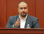 George Zimmerman looks at the jury as he testifies in a Seminole County courtroom Tuesday, Sept. 13, 2016 during the trial of Matthew Apperson, who is accused of trying to kill Zimmerman by shooting into his truck during a road rage dispute on Lake Mary Bo