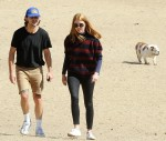 Shia LaBeouf and Mia Goth out at a park
