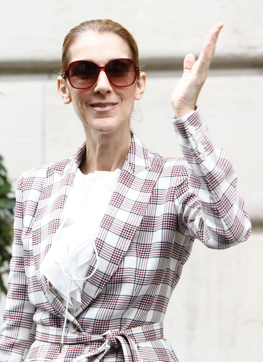 Pepe Munoz and Celine Dion leave the hotel Royal Monceau in Paris