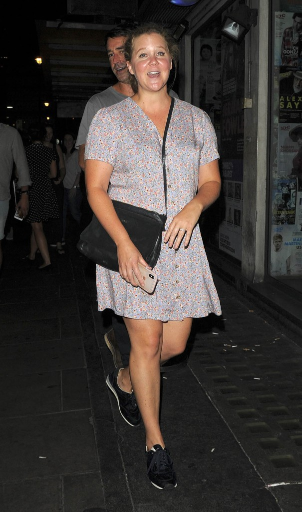 Amy Schumer leaving the Soho Theatre