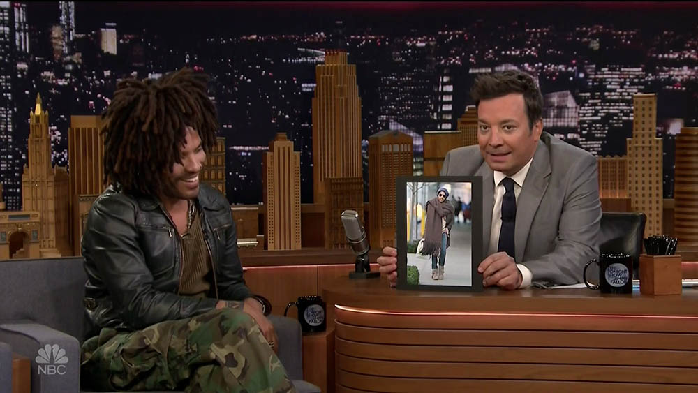 Lenny Kravitz during an appearance on NBC's 'The Tonight Show Starring Jimmy Fallon.'