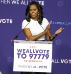 Michelle Obama hosts the 'When We All Vote' rally in Las Vegas