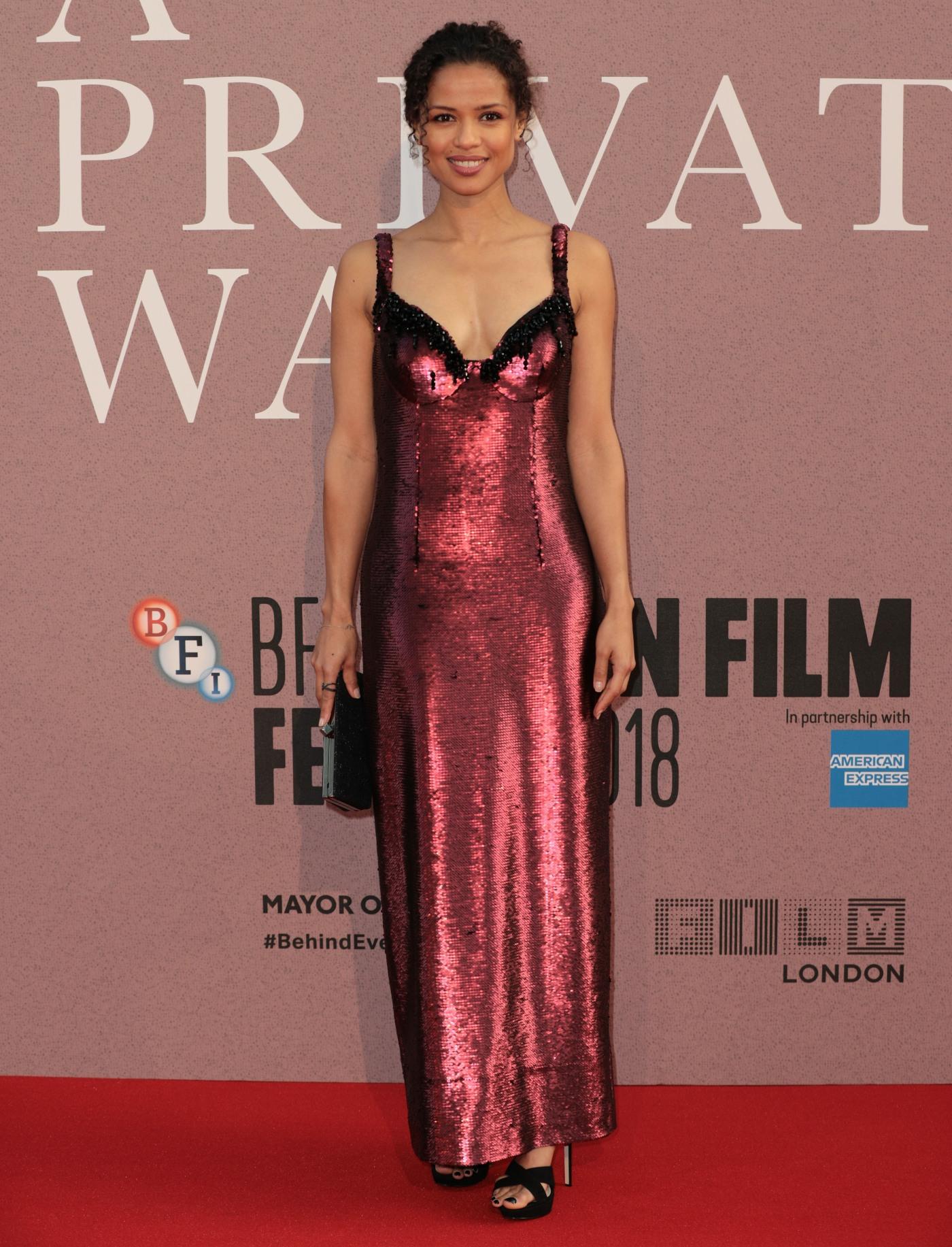 Gugu Mbatha-Raw at 'A Private War' premiere, BFI London Film Festival