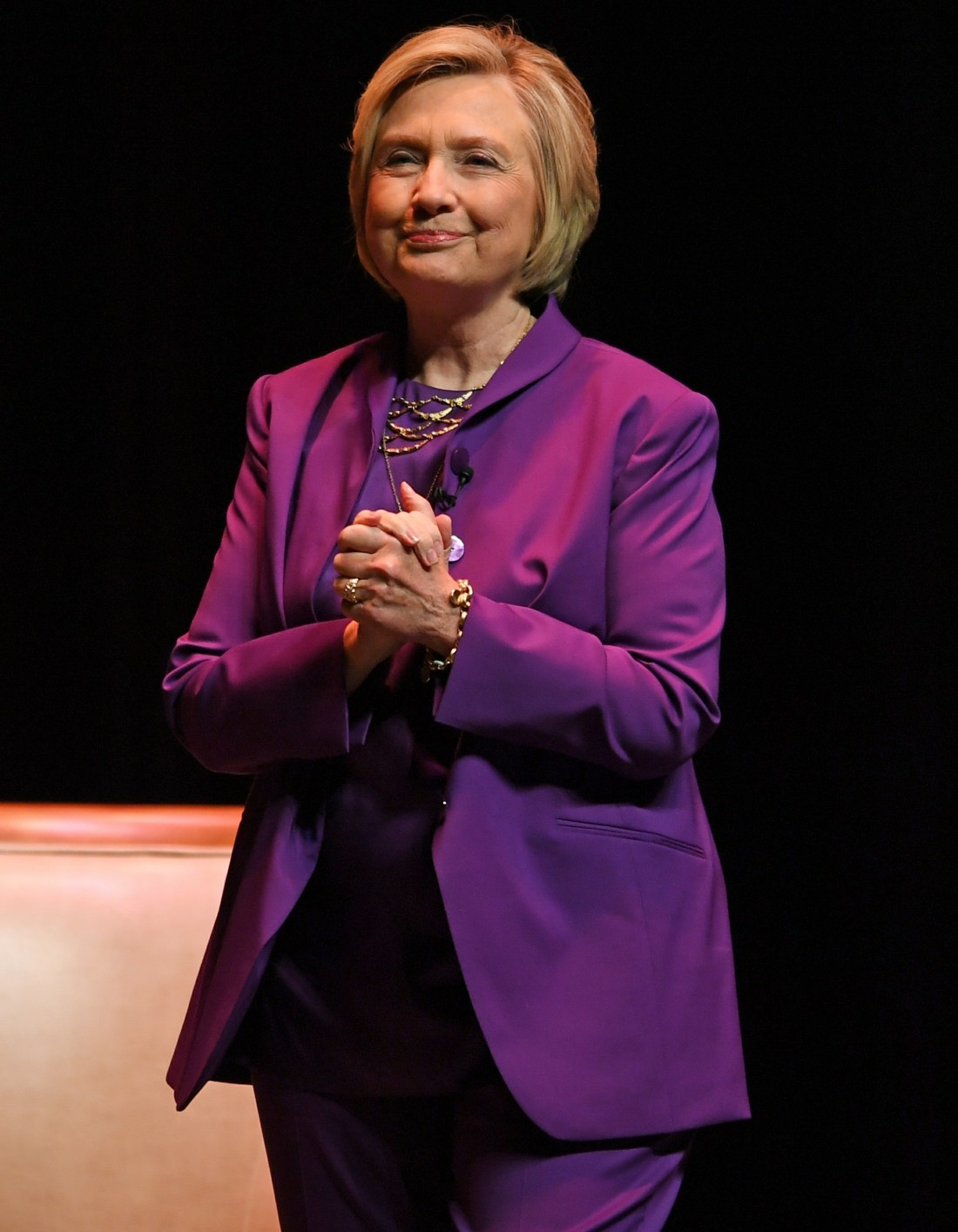 Hillary Clinton speaks during her promotional book tour for 'What Happened'