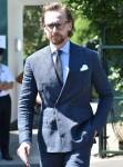 Tom Hiddleston attends day thirteen of Wimbledon in London