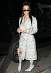 Fashion Jackpot! Kim Kardashian's Dollar Bill-Print Trench and Boots Are Right on the Money