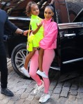 Kim Kardashian and North West light it up in neon!