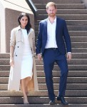 Pregnant Meghan Markle and Prince Harry arrive at the Sydney Opera House