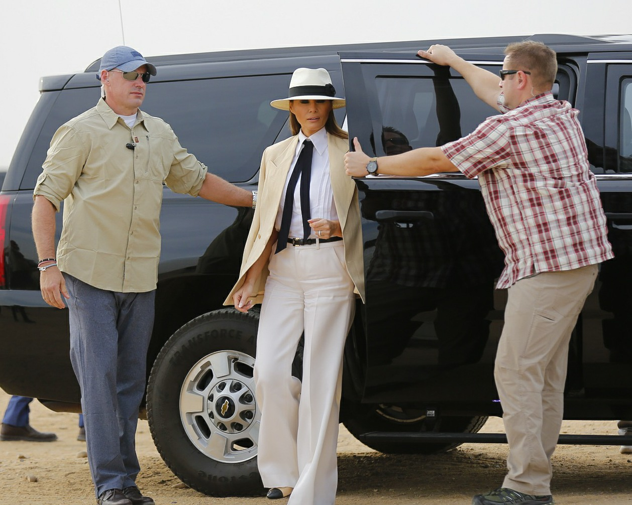 First Lady Trump visits Egypt