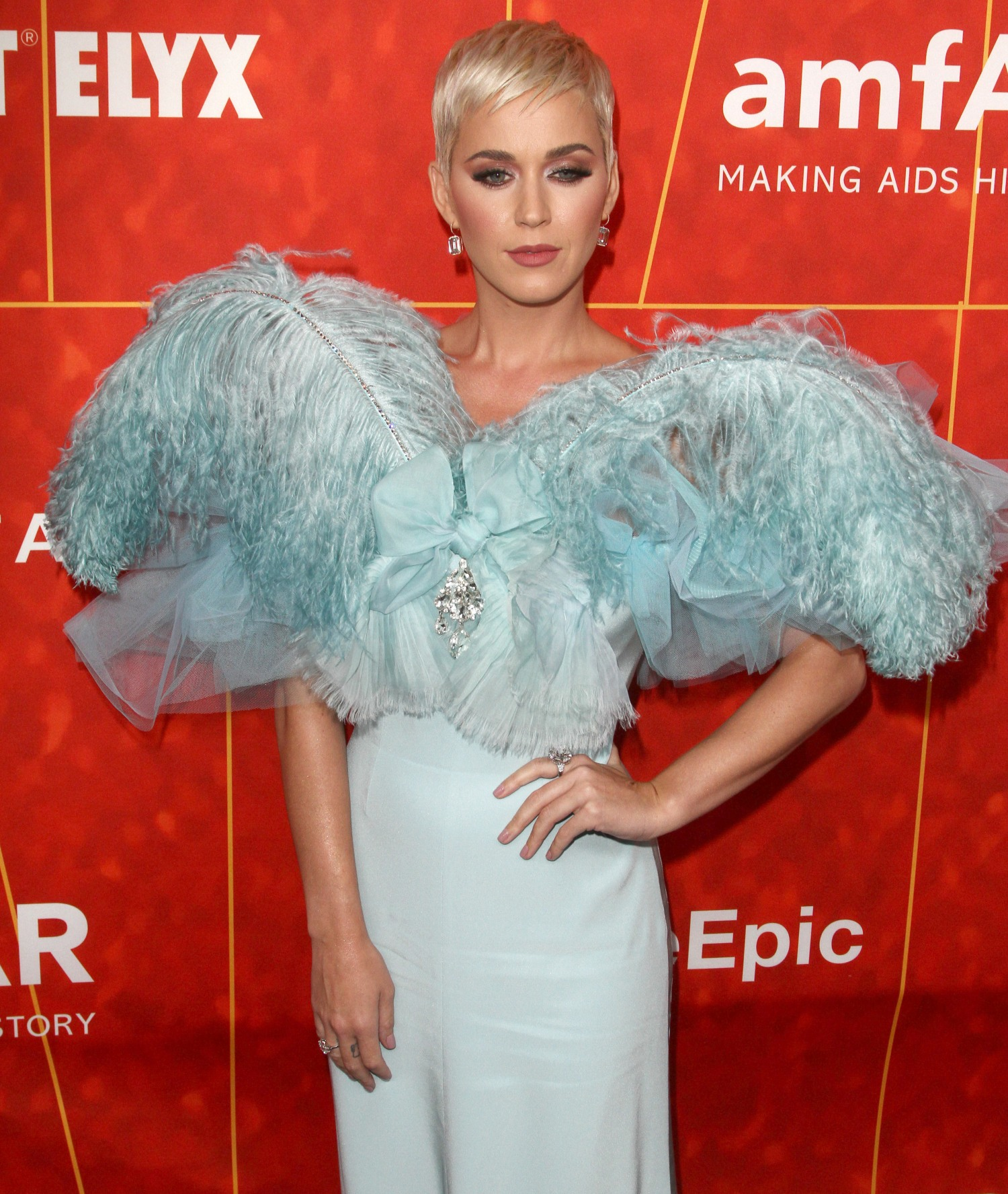 Katy Perry attends The the amFAR Gala in Los Angeles
