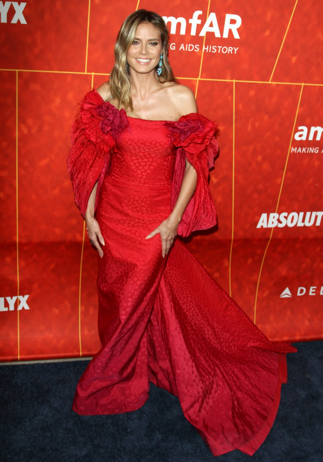 Heidi Klum attends The the amFAR Gala in Los Angeles