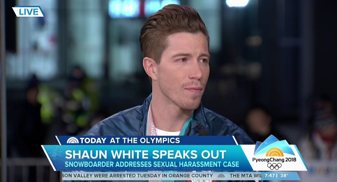 Shaun White during an appearance on NBC's 'Today Show'