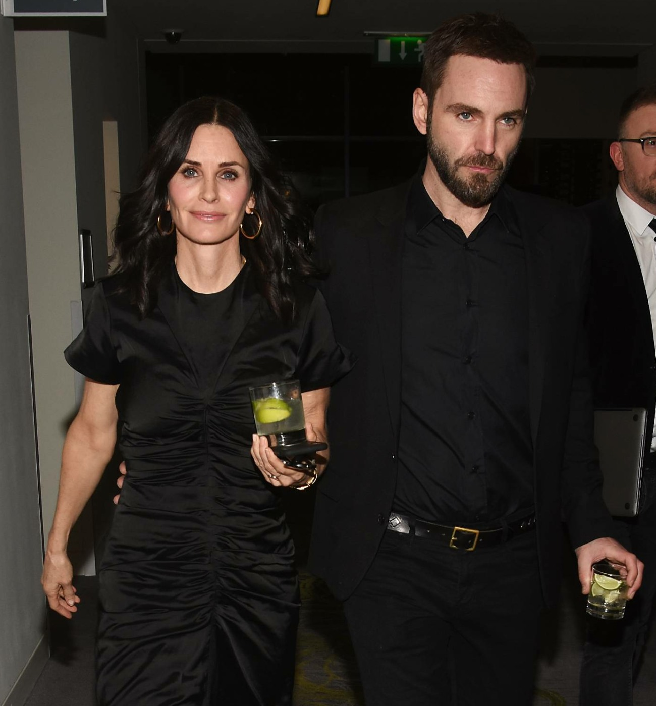 Courteney Cox and fiance Johnny McDaid at IMRO
