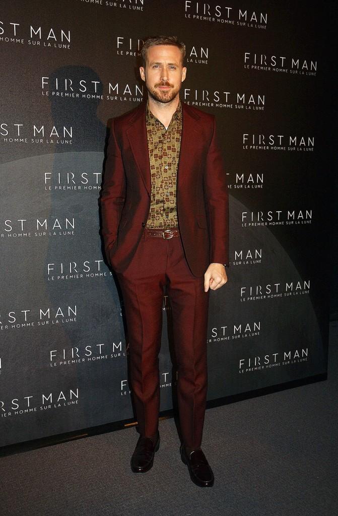 First Man film premiere in Paris
