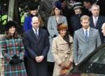 Catherine, Duchess of Cambridge, Prince William, Duke of Cambridge, Meghan Markle and Prince Harry at Sandringham Church for the royal family's traditional Christmas Day service