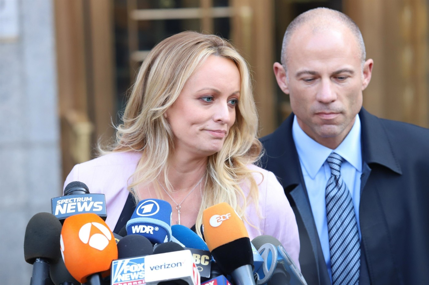 Stormy Daniels attends the Michael Cohen court hearing in NYC