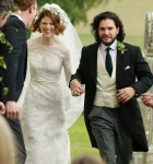 Congratulations! Kit Harington and Rose Leslie tie the knot at Rayne Church in Scotland