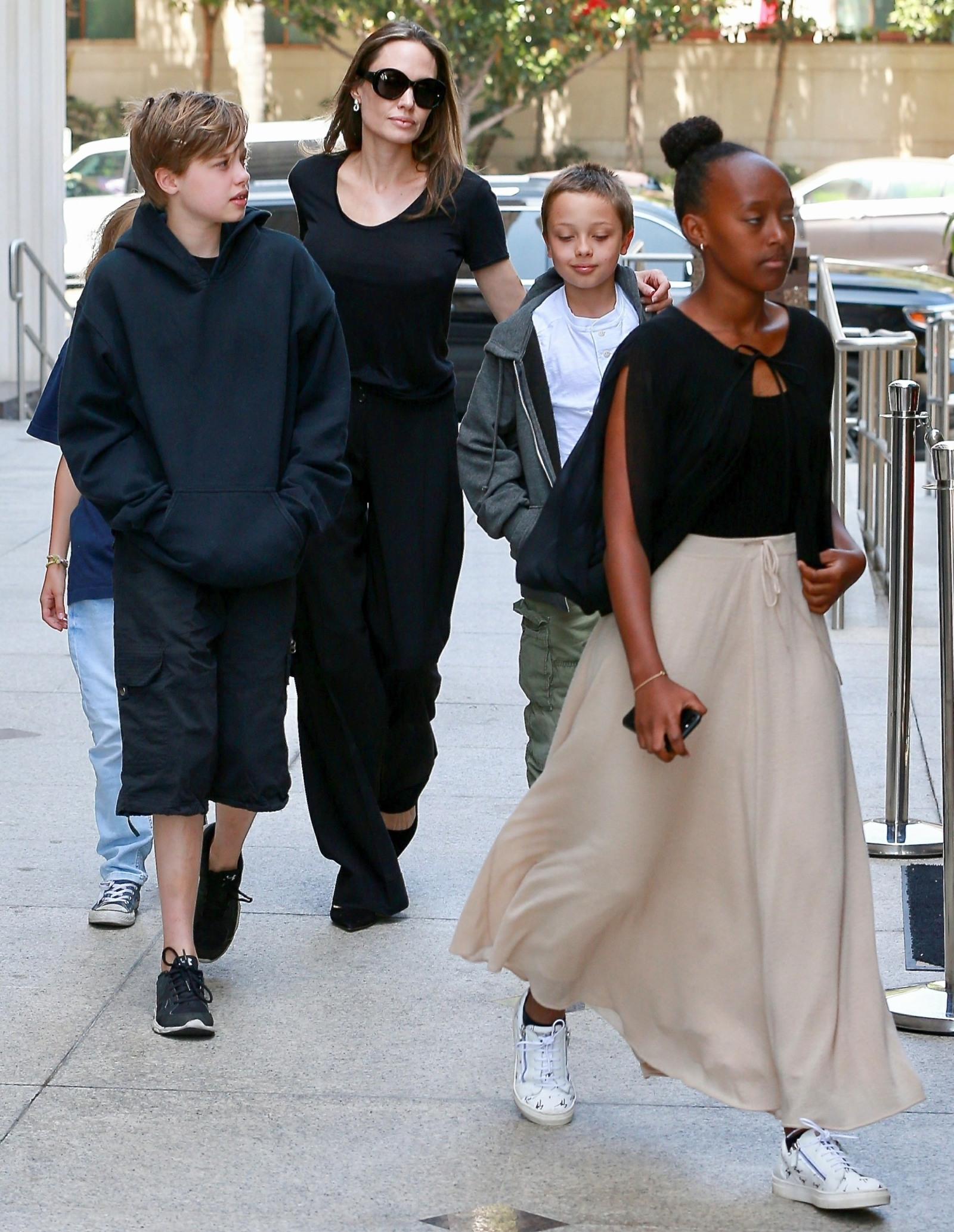 Angelina Jolie takes the kids on a movie date in LA