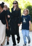Angelina Jolie brings her kids to the movies amid a continued divorce battle with Brad Pitt