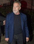 Arnold Schwarzenegger enjoys a night out at Annabel's in Central London