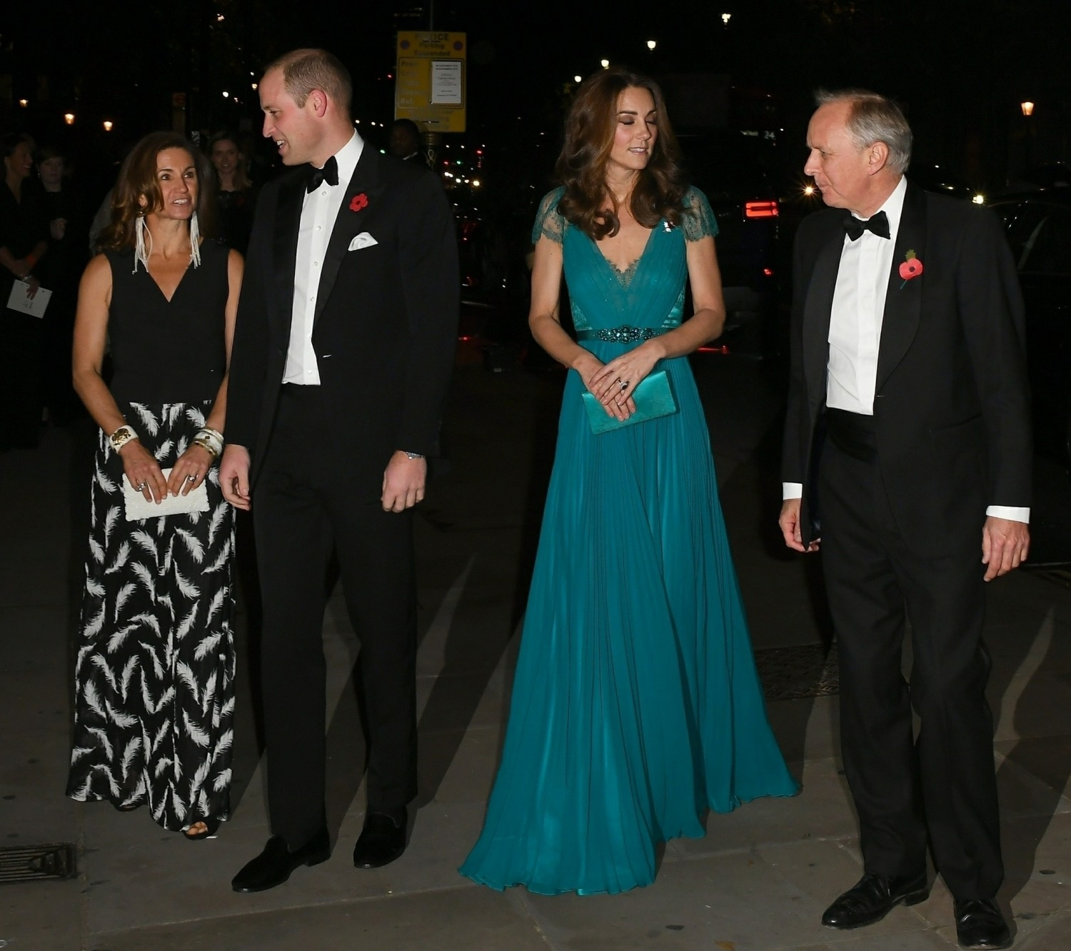 The Duke and Duchess of Cambridge are seen at the Tusk Conservation Awards