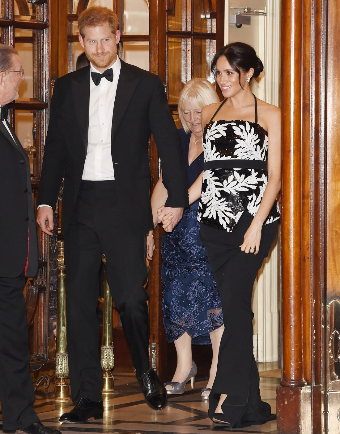Prince Harry and pregnant Meghan Markle leave The Royal Variety Performance 2018